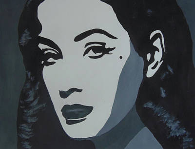Dita Von Teese Painting - Pop Art Woman by Sharon R Thompson