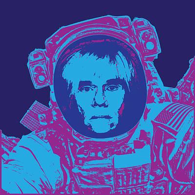 Digital Art - Pop Astronaut by Gary Grayson