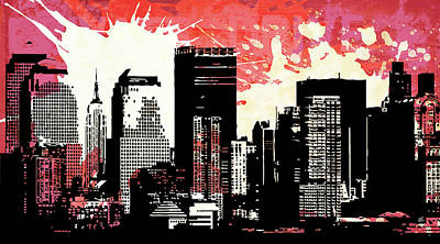 Contrast Digital Art - Pop City 11 by Melissa Smith