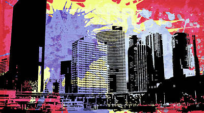 Buildings Digital Art - Pop City 12 by Melissa Smith