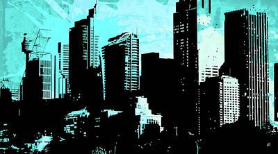 Cityscape Mixed Media - Pop City 14 by Melissa Smith