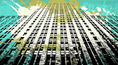 Color Digital Art - Pop City 18 by Melissa Smith