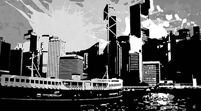 Bold Digital Art - Pop City 26 by Melissa Smith