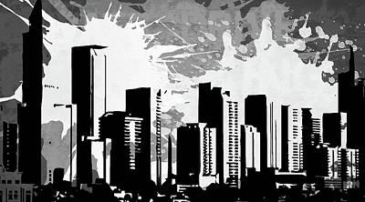 Splatter Digital Art - Pop City 28 by Melissa Smith