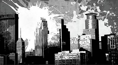 Splatter Digital Art - Pop City 29 by Melissa Smith