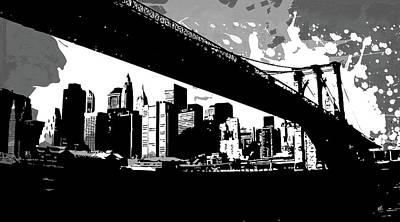 Gray Digital Art - Pop City 30 by Melissa Smith