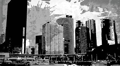 Splatter Digital Art - Pop City 33 by Melissa Smith