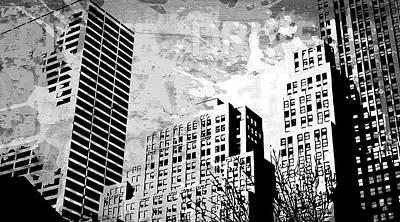 Gray Digital Art - Pop City 34 by Melissa Smith