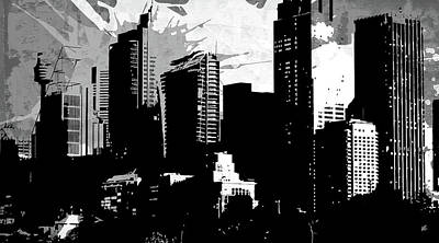 Cityscape Mixed Media - Pop City 35 by Melissa Smith