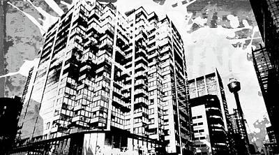 Splatter Digital Art - Pop City 40 by Melissa Smith