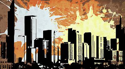 Ink Digital Art - Pop City 7 by Melissa Smith