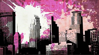 Building Digital Art - Pop City 8 by Melissa Smith