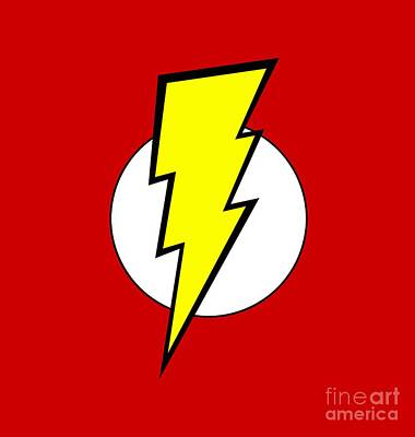 Pop Culture Geek Stuff Lightning Bolt Circle Design Art Print by Tina Lavoie