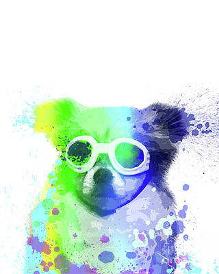 Pop Up Card Painting - Pop Dog With Goggles by Delphimages Photo Creations
