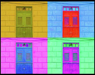 Digital Art - Pop Doors by Kandy Hurley