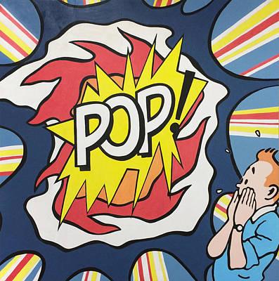 Alejandro Painting - Pop Explosion by Alejandro Iturralde Arquiola