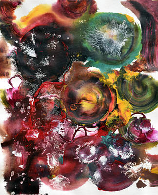 Multicolor Painting - Pop Fluid No. 8 by Sumit Mehndiratta