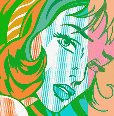 Pop Girl Art Print by Christian Colman