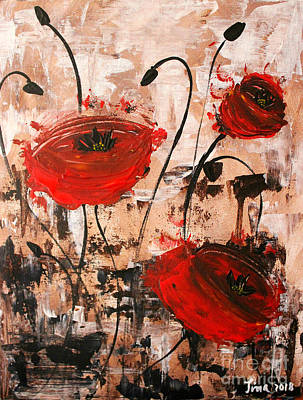Pop Goes The Poppies Art Print