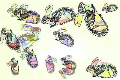 Digital Art - Pop Goes The Rabbit 2 by Keshava Shukla