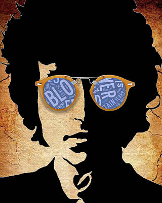 Mixed Media - Pop Icon Bob Dylan by Marvin Blaine