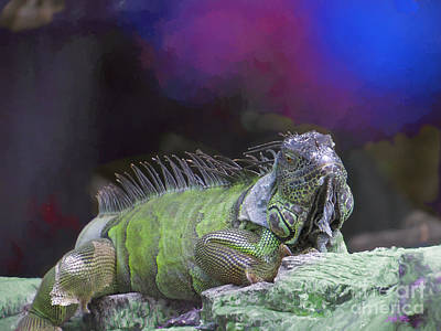 Painting - Pop Iguana Edition 2 by Judy Kay