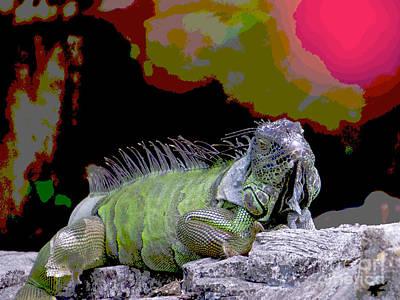 Painting - Pop Iguana by Judy Kay