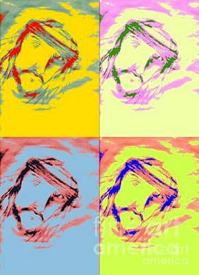 Popstar And Musician Paintings - Pop Jesus by Vicki Lynn Sodora