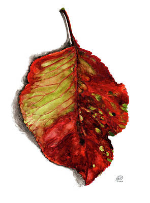 Painting - Pop Leaf Red by Ryan Irish