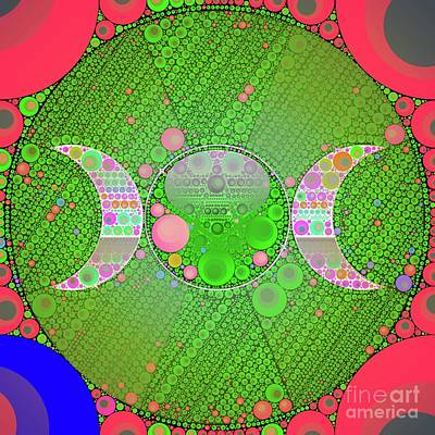 Circle Digital Art - Pop Pagan By Mb by Mary Bassett