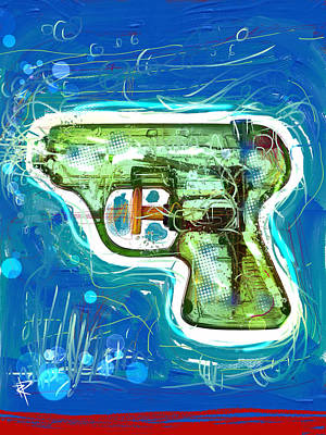 Mixed Media - Pop Pistol by Russell Pierce