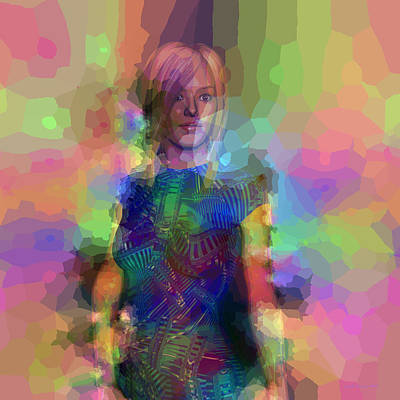 Digital Art - Pop Portrait Of Amber by Judi Suni Hall