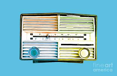 Pop Radio Tee Art Print by Edward Fielding