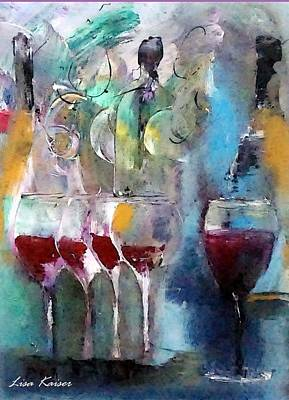 Pop The Cork And Celebrate Art Print by Lisa Kaiser