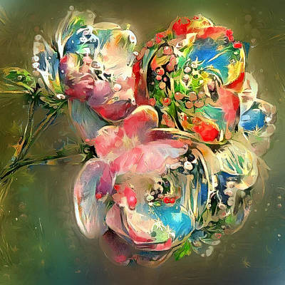 Digital Art - Pop Up Flowers by Yury Malkov