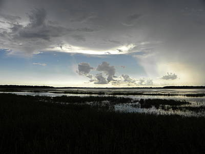 Grass Photograph - Pop Up Storm by Ric Schafer