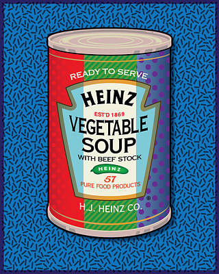 Digital Art - Pop Vegetable Soup Can by Gary Grayson