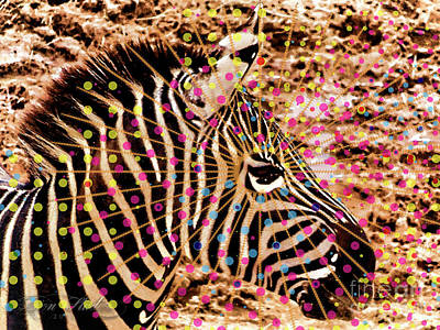 Photograph - Pop Zebra by Melissa Messick