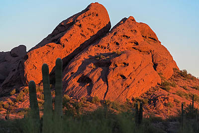 Photograph - Papago Park Mountain At Sunrise Phoenix Az by Toby McGuire