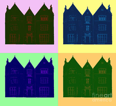 Synagogue Digital Art - Popart 770 by Sholom Zimmerman