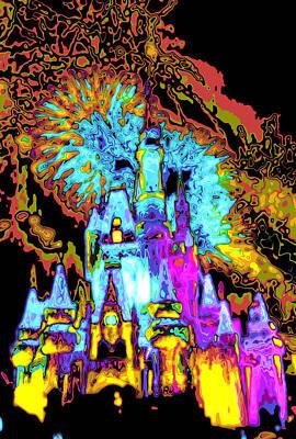 Digital Art - Popart Castle by Charles  Ridgway