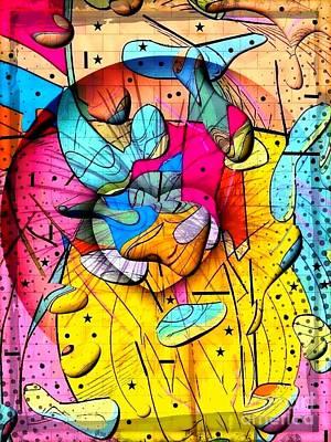 Digital Art - Popart Rain By Nico Bielow by Nico Bielow