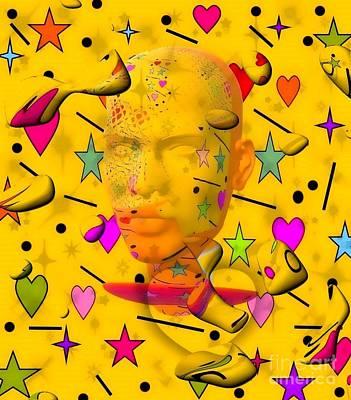 Digital Art - Popart Shadow By Nico Bielow by Nico Bielow