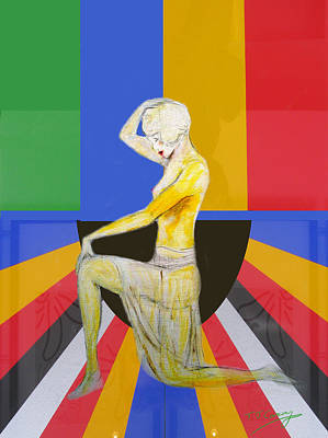 Painting - Popart Showgirl 2 by Tom Conway