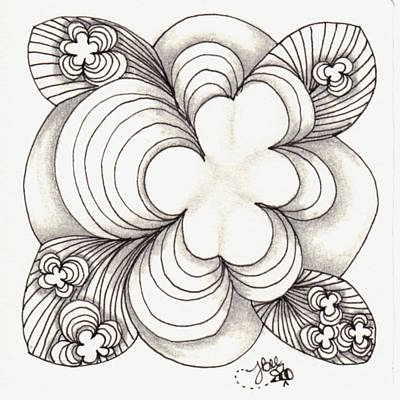 Drawing - Popcloud Blossom by Jan Steinle