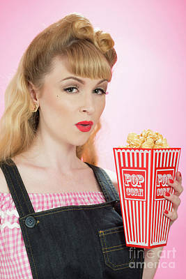 Painted Nails Photograph - Popcorn by Amanda Elwell
