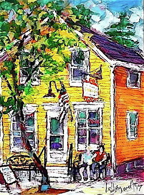Painting - Popcorn House by Les Leffingwell