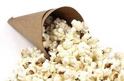 Tasty Photograph - Popcorn In Paper Cone by Blink Images
