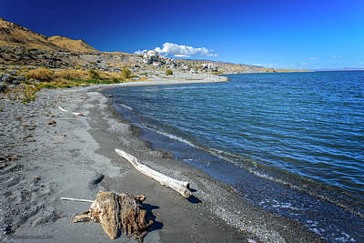 Photograph - Popcorn Rock Beach Shore Pyramid Lake by LeeAnn McLaneGoetz McLaneGoetzStudioLLCcom