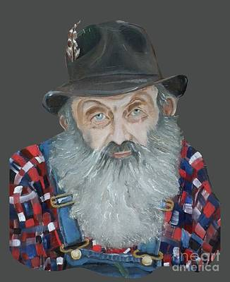 Painting - Popcorn Sutton Moonshiner Bust - T-shirt Transparent by Jan Dappen